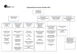 Organisational Structure October 2014