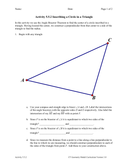 Activity 5.5.2 Inscribing a Circle in a Triangle