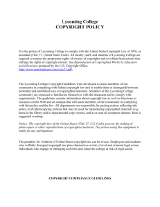 Lycoming Copyright Policy Guidelines