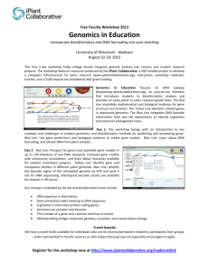 Genomics in Education - iPlant Pods