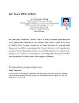 Aamir Jamal Gondal - King Edward Medical University