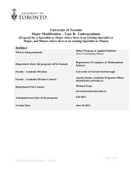 Program Requirements - University of Toronto Scarborough