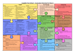 Langdale Free School – Curriculum Overview for Class 6