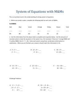 System of Equations with MMs_1