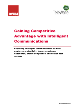 Intelligent Communications WP