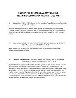 agenda for the monday, may 13, 2013 planning commission hearing