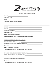 new patient form - Zenergy Physical Therapy