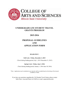 Undergraduate Student Travel - College of Arts & Sciences
