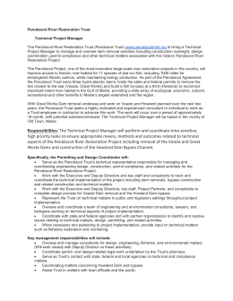 Penobscot River Restoration Trust Technical Project Manager The
