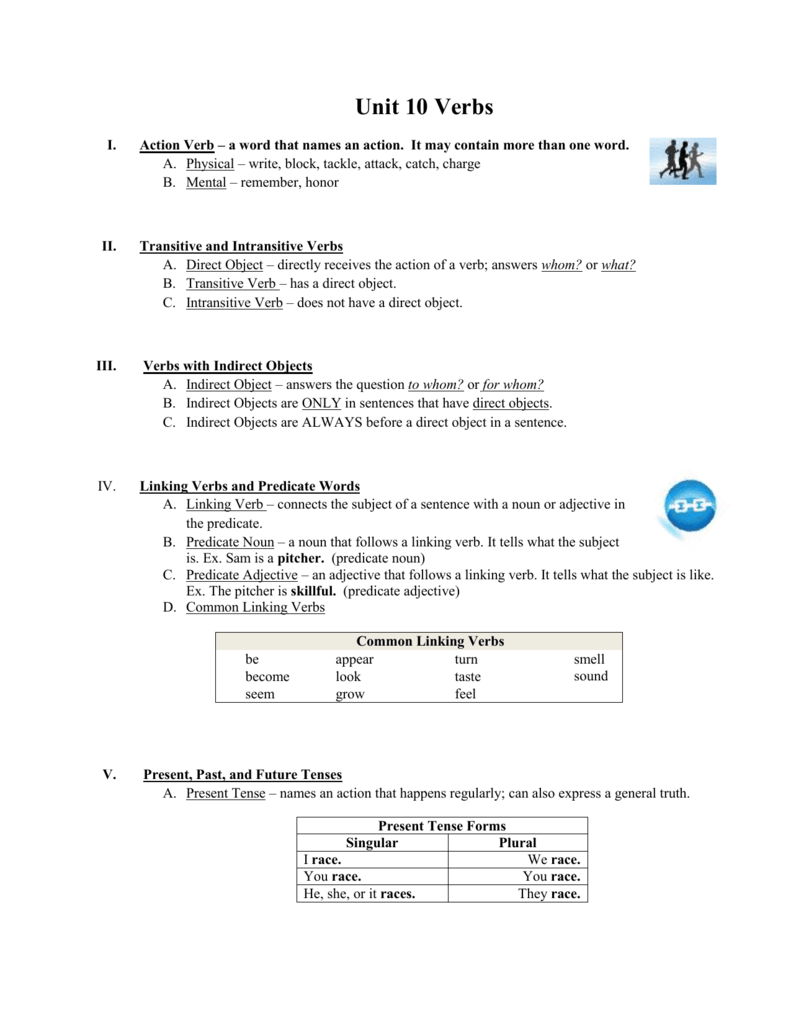 Workbooks transitive and intransitive verbs worksheets : Chapter 10 Verbs