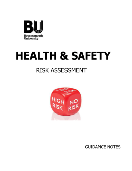 General Risk Assessment Guidance