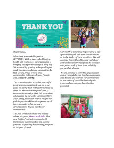 GratitudeReport - Girls on the Run New Jersey North