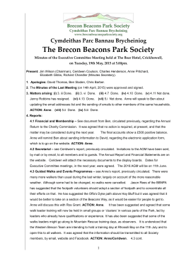 Minutes 2015.05.19 - Brecon Beacons Park Society
