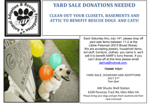 yard sale, dogwash and adoptions