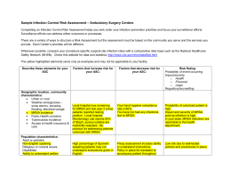 sample infection control risk assessment