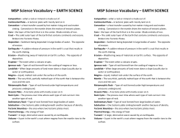 MSP Science Vocabulary