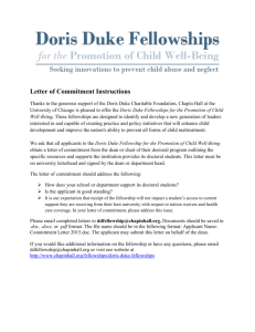 Letter of Commitment Instructions - Chapin Hall at the University of