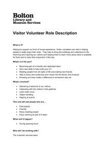 Visitor volunteer role