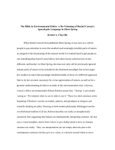 The Bible in Environmental Ethics: A Re