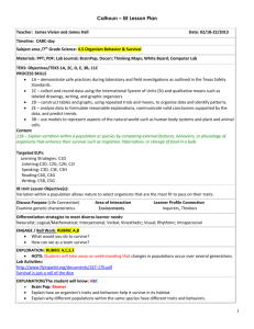 5E Student Lesson Planning Template