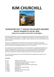 KIM CHURCHILL `SILENCE/WIN` OUT 7TH AUGUST VIA ATLANTIC