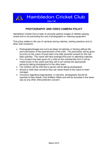 HCC photography and video guidelines