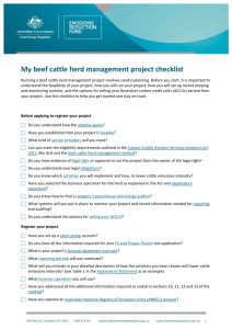 My beef cattle herd management project checklist