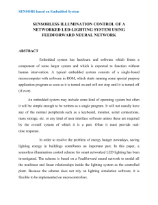 sensorless illumination control of a networked led