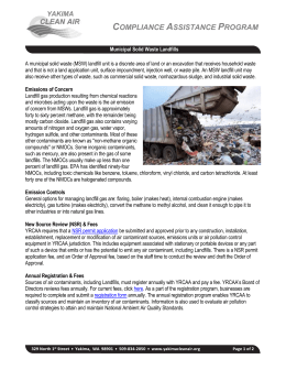 Landfills - Yakima Regional Clean Air Agency
