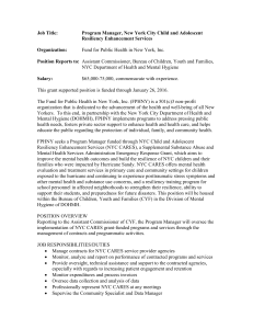 Job Title: Program Manager, New York City Child and Adolescent
