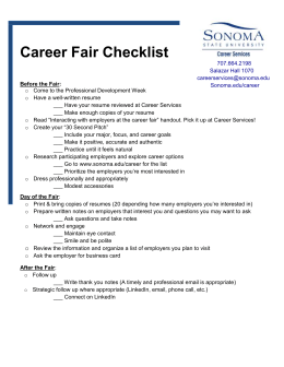 cover letter for career fair