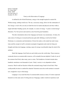 In-Class Essay - Saint Mary`s Commons