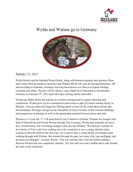 Wylda and Waluna go to Germany