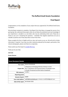 Final Report - Rufford Foundation