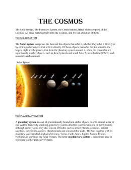 The Cosmos - teachiuliamanicea