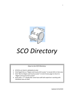 Supports Coordination Organization Directory