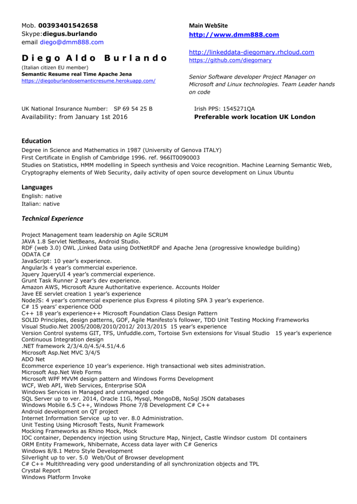 Resume - AngularJS