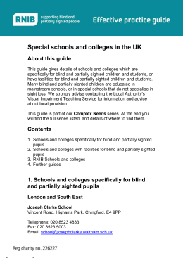 Special schools and colleges in the UK