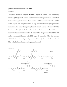 Synthesis and characterization of MC3482 Chemistry The synthetic