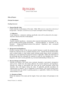 Protocol Template for IRB Submission