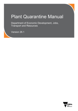 Plant Quarantine Manual (accessible version) [MS