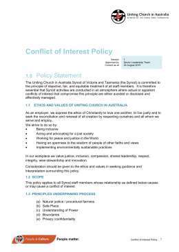 Conflict of Interest Policy - Uniting Church in Australia