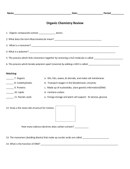 Chemistry of life review worksheet chapter 2