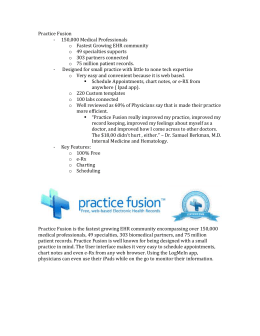 Practice Fusion 150,000 Medical Professionals Fastest Growing
