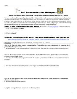 Cell communication lesson web quest