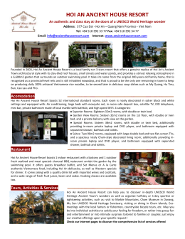 Download: FACT SHEET the resort in format DOC
