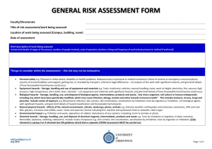 OFF-CAMPUS ACTIVITIES RISK ASSESSMENT FORM