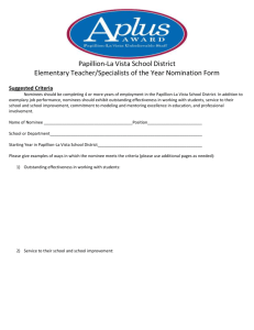 Teacher of Year Nomination Form-Elementary