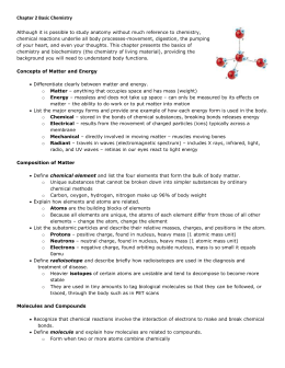 Chapter 2 the chemical context of life worksheet answers