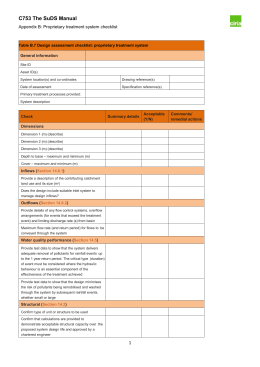 Proprietary treatment design checklist